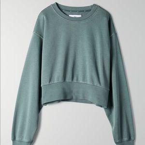 TNA Aritzia Perkins sweatshirt - dusty mint colour